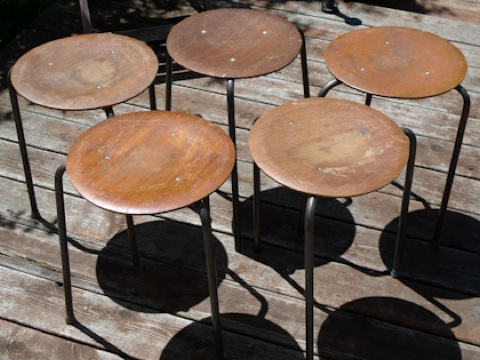 Vintage Find Three Legged Stools At Kitka Design Toronto