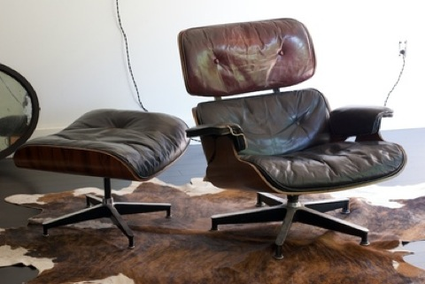 style ottoman vitra lounge and eames of recliner photograph chair