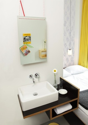 remodelista michelberger hotel 2 - Small Hotel Bathroom Design