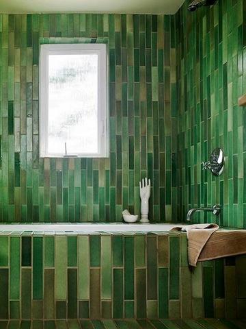 design sponge green tiles