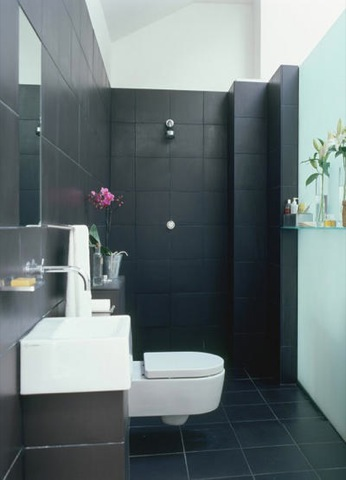 Bathroom tiling on pinterest tiny bathrooms for Small shower room ideas